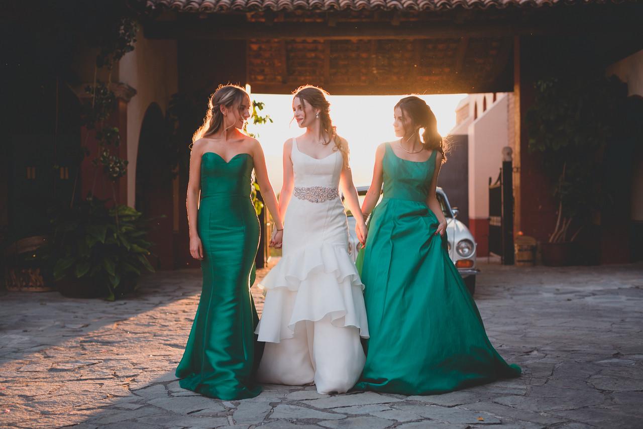 Vestidos para damas de honor color verde jade